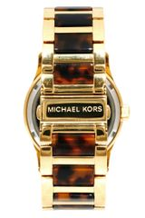 Michael Kors Runway Gold and Tortoiseshell Watch