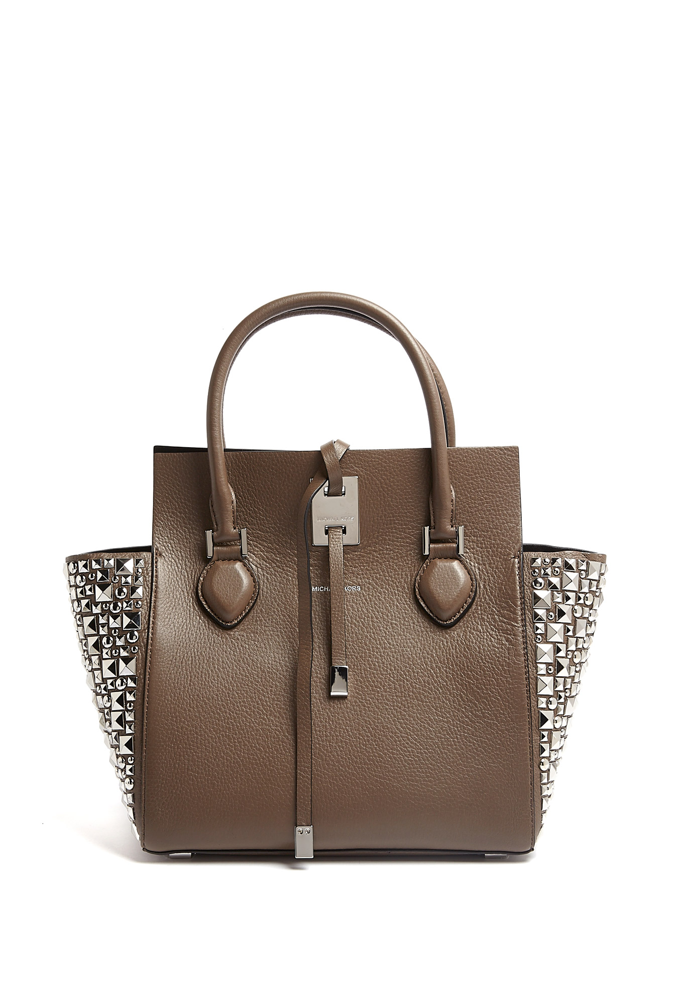 michael kors elephant tote in silver lyst. Black Bedroom Furniture Sets. Home Design Ideas