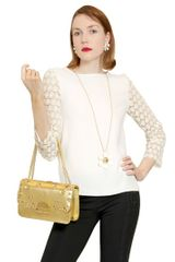 Moschino Cheap&chic Lace Sleeve Top - Lyst
