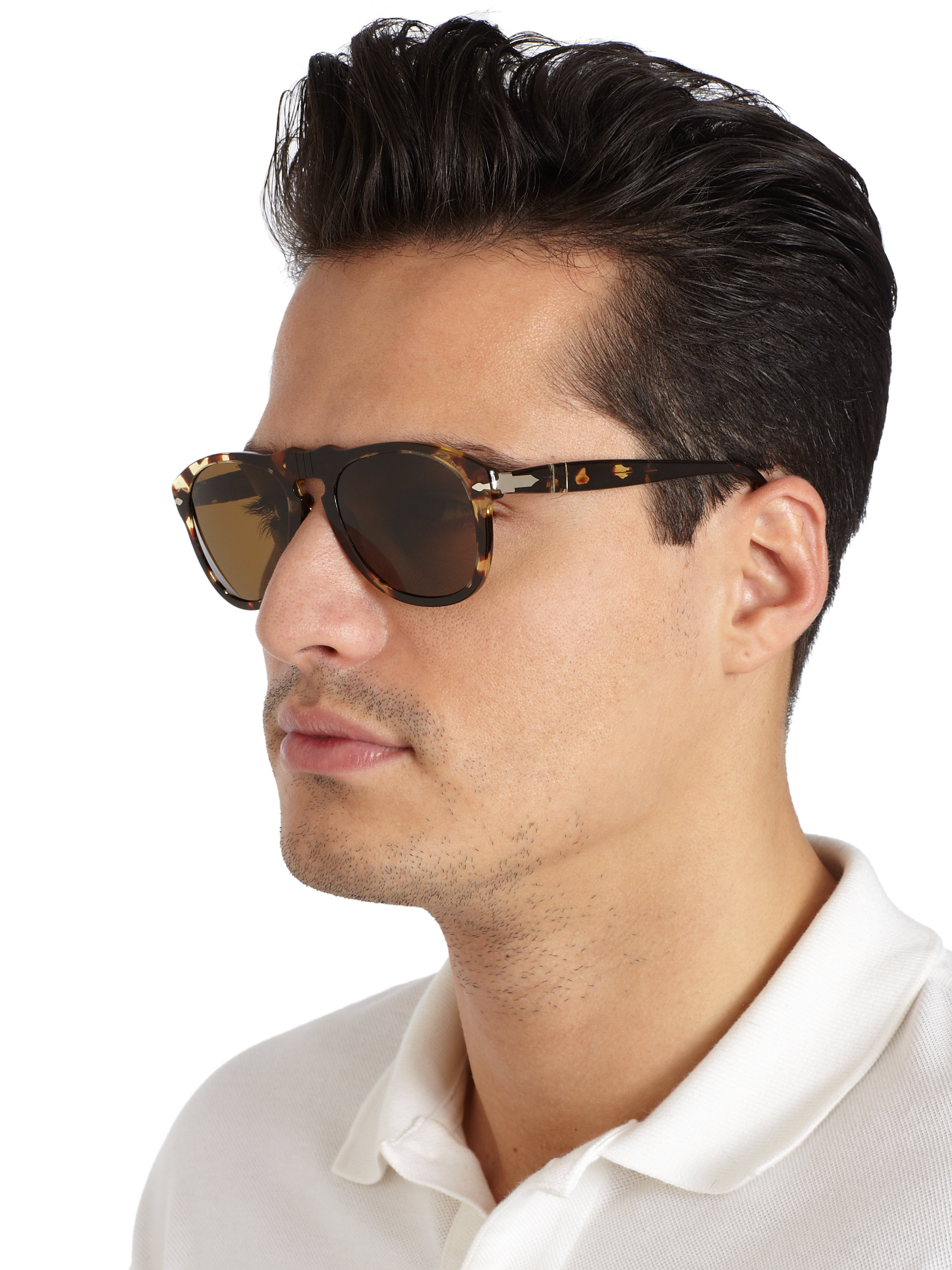 f6cf87e62c Lyst - Persol Retro Keyhole Sunglasses in Brown for Men