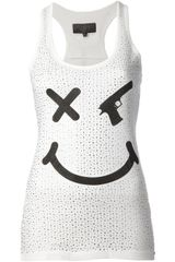 Philipp Plein Gun Smiley Face Tank Top - Lyst