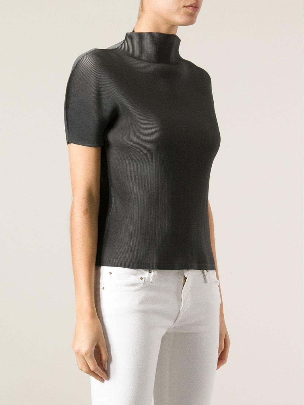 Pleats Please By Issey Miyake pleated short sleeve T-shirt Cheap Shop t6mXJQ8w