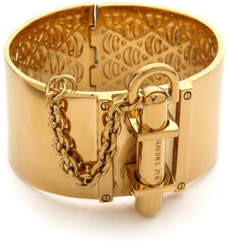 Rachel Zoe Wide Signature Hinge Bangle - Lyst