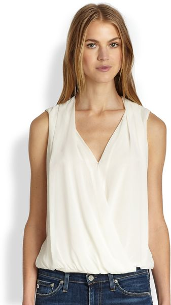 Rachel Zoe Draped Silk Hilo Top - Lyst