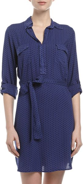 Splendid Two Pocket Shirt Dress  - Lyst