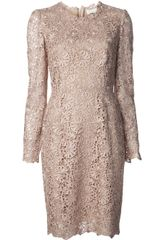 Stella McCartney Fitted Waist Lace Dress - Lyst