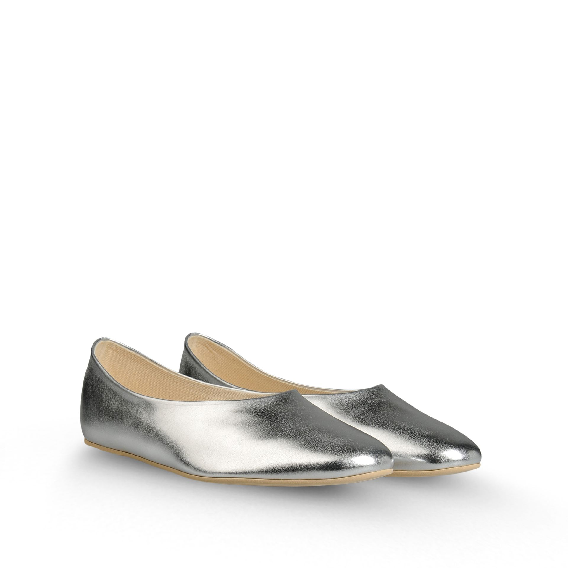 Silver Flat Shoes Size