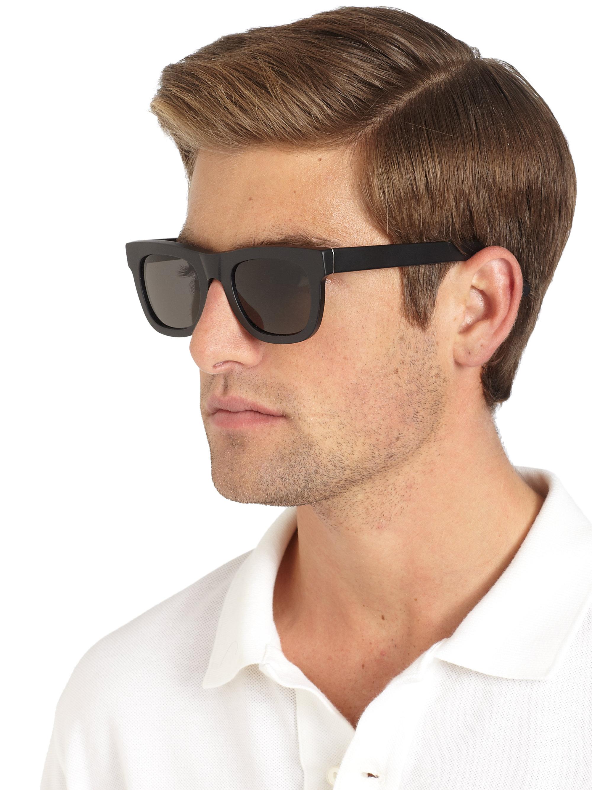 79478ebba2a2 Retrosuperfuture Matte Wayfarer Sunglasses in Black for Men - Lyst