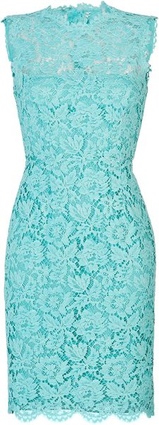 Valentino Lace Overlay Sheath Dress - Lyst