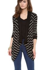 Velvet Monett Striped Thermal Cardigan - Lyst