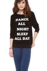 Wildfox Dance All Night Baggy Beach Sweatshirt - Lyst