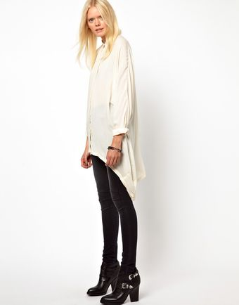 Won Hundred Guro Shirt with Draped Side - Lyst