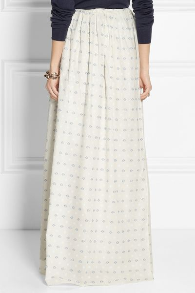 band of outsiders wrap effect embroidered cotton maxi