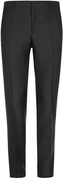 Burberry Jacquard Wool Trousers - Lyst