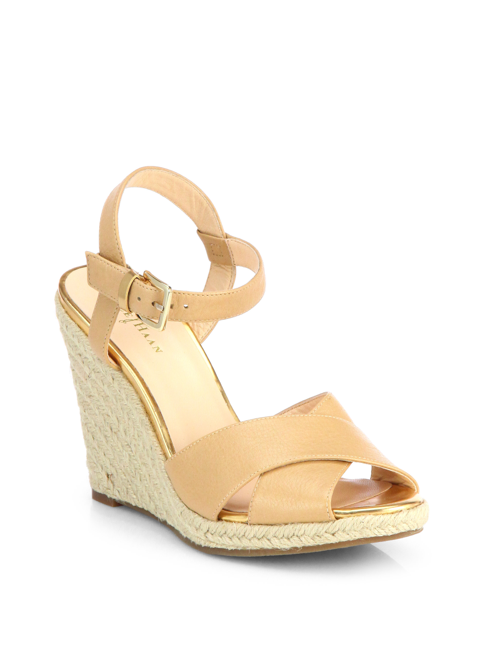 Womens Sandals Cole Haan Hart Wedge Sandstone