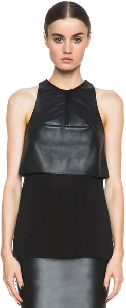 Dion Lee 3D Filter Leather Top - Lyst