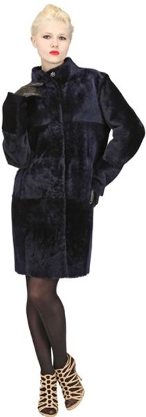 Drome Shaved Shearling Fur Coat - Lyst