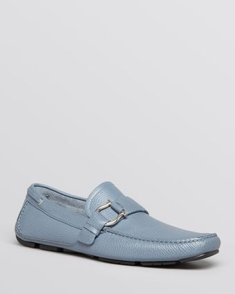 Ferragamo Cabo 2 Pebble Leather Loafers - Lyst
