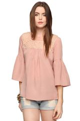 Forever 21 Romantic Lace Blouse - Lyst