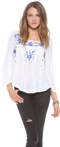 Free People Bed Of Roses Top - Lyst