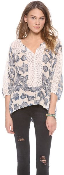 Free People Moon River Blouse - Lyst