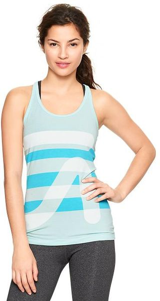 Gap Fit Breathe Logo Racer Tank - Lyst
