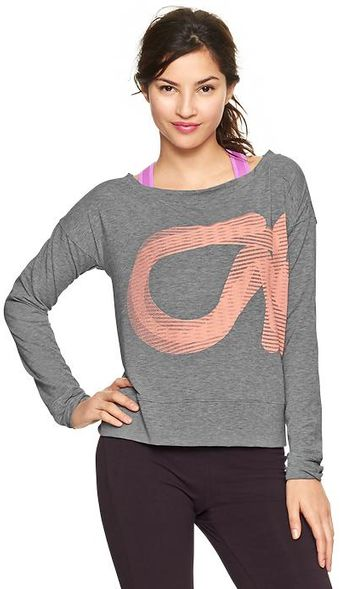 Gap Fit Breathe Logo Sweatshirt - Lyst