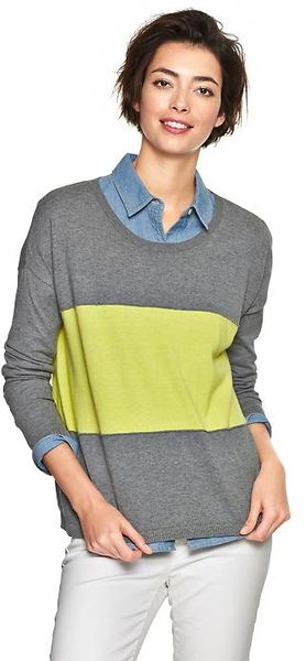 Gap Colorblock Stripe Sweater - Lyst