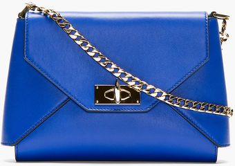 Givenchy Royal Blue Leather Shark Lock Envelope Shoulder Bag - Lyst