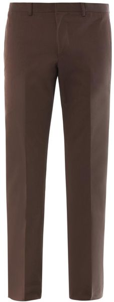 Gucci Slim Leg Cotton Chinos - Lyst
