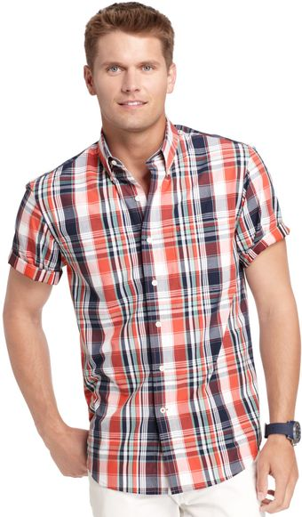Izod Shortsleeve Plaid Shirt - Lyst
