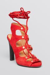 Jeffrey Campbell Lace Up Sandals Enable High Heel - Lyst