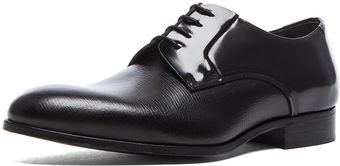 Lanvin Embossed Plain Calfskin Leather Dress Shoe - Lyst