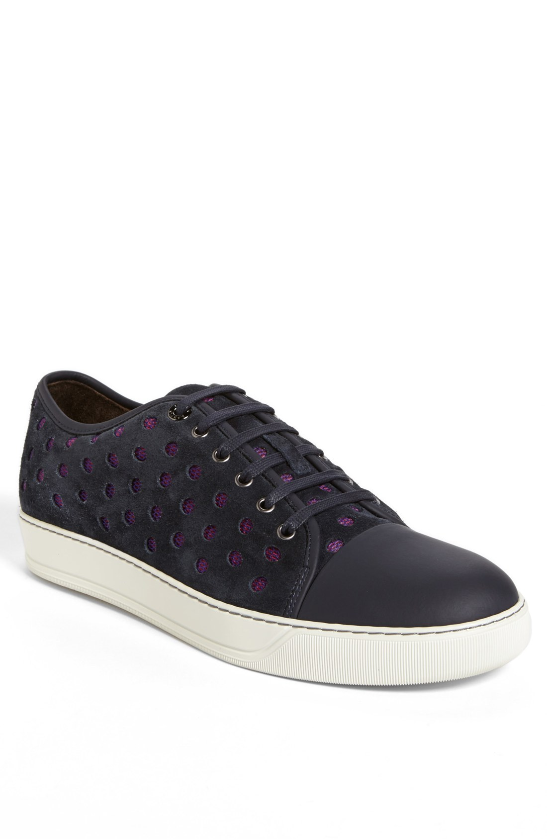 Lanvin Perforated Suede Sneaker in Blue for Men (Navy Blue ...