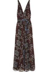 Maiyet Silk Chiffon Batik Maxi Dress - Lyst