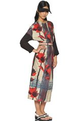 Marni Floral Printed Cotton Blend Dress - Lyst