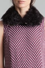 Marni Shearling Collar Coal - Lyst