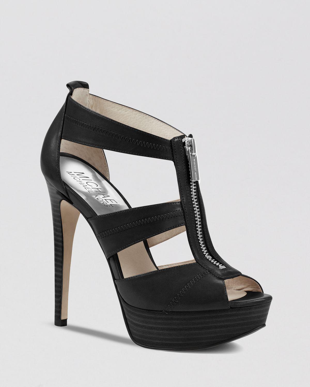234c81233805 Lyst - MICHAEL Michael Kors Peep Toe Platform Sandals - Berkley High ...