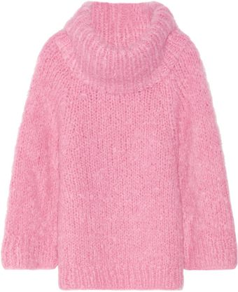 Michael Kors Oversized Mohair Blend Sweater - Lyst