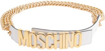 Moschino Chain Logo Belt - Lyst
