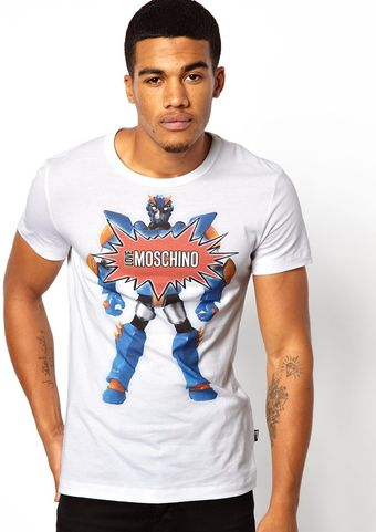 Moschino Love Tshirt with Robot Print - Lyst