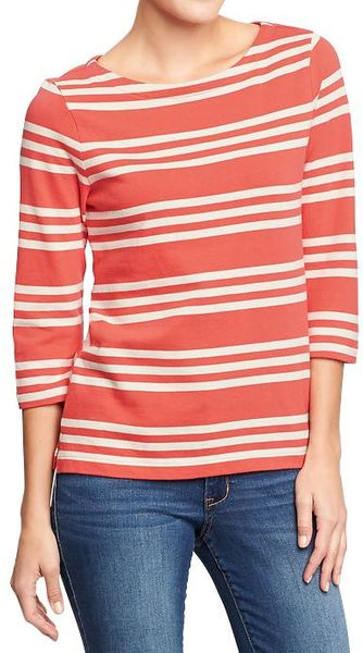 Old Navy Boatneck Jersey Tops - Lyst