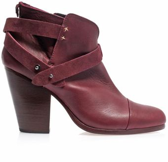 Rag & Bone Harrow Leather Suede Ankle Boots - Lyst