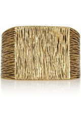 Saint Laurent Goldplated Cuff - Lyst
