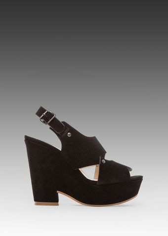 See By Chloé Ankle Wedge in Black - Lyst