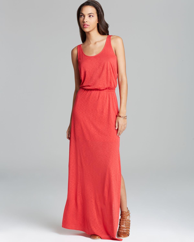 Splendid Maxi Dress Solid in Red - Lyst