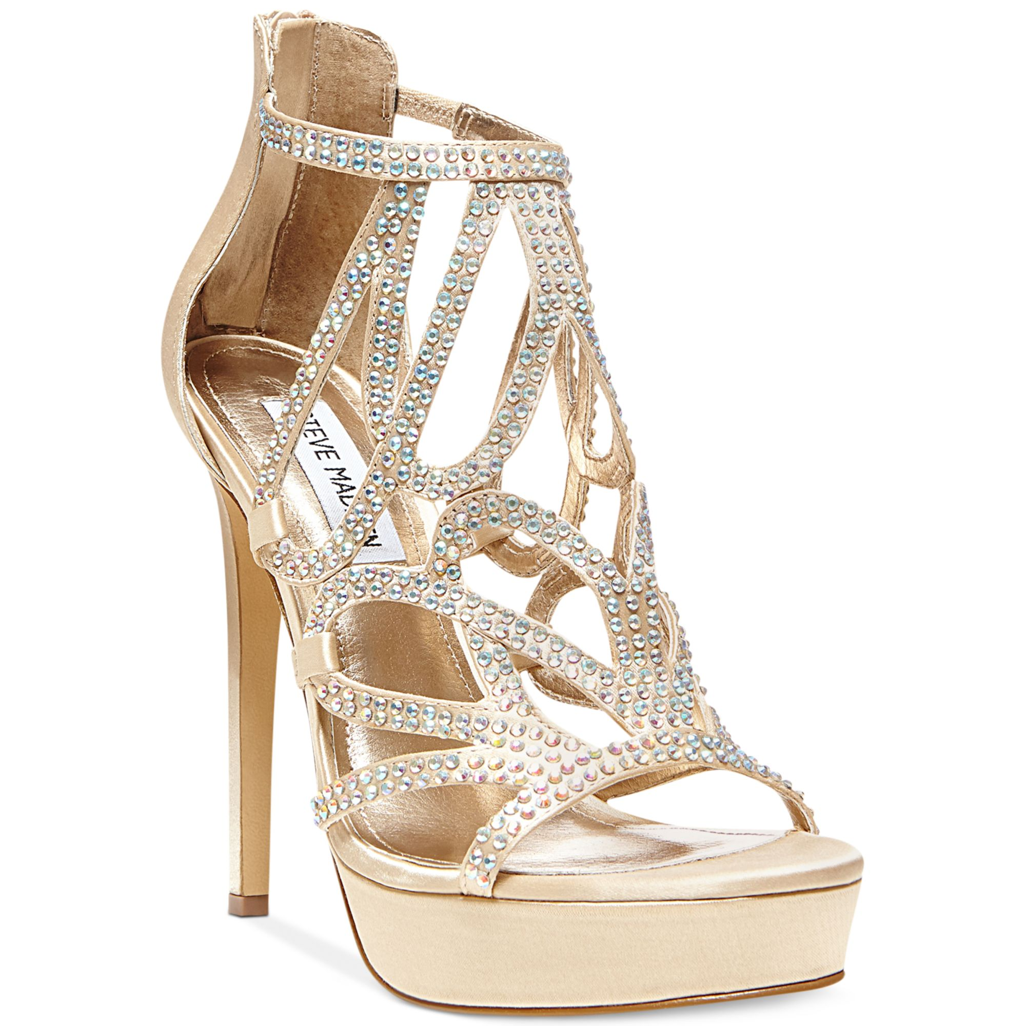 5103879b93e8 Lyst - Steve Madden Singer Platform Evening Sandals in Metallic