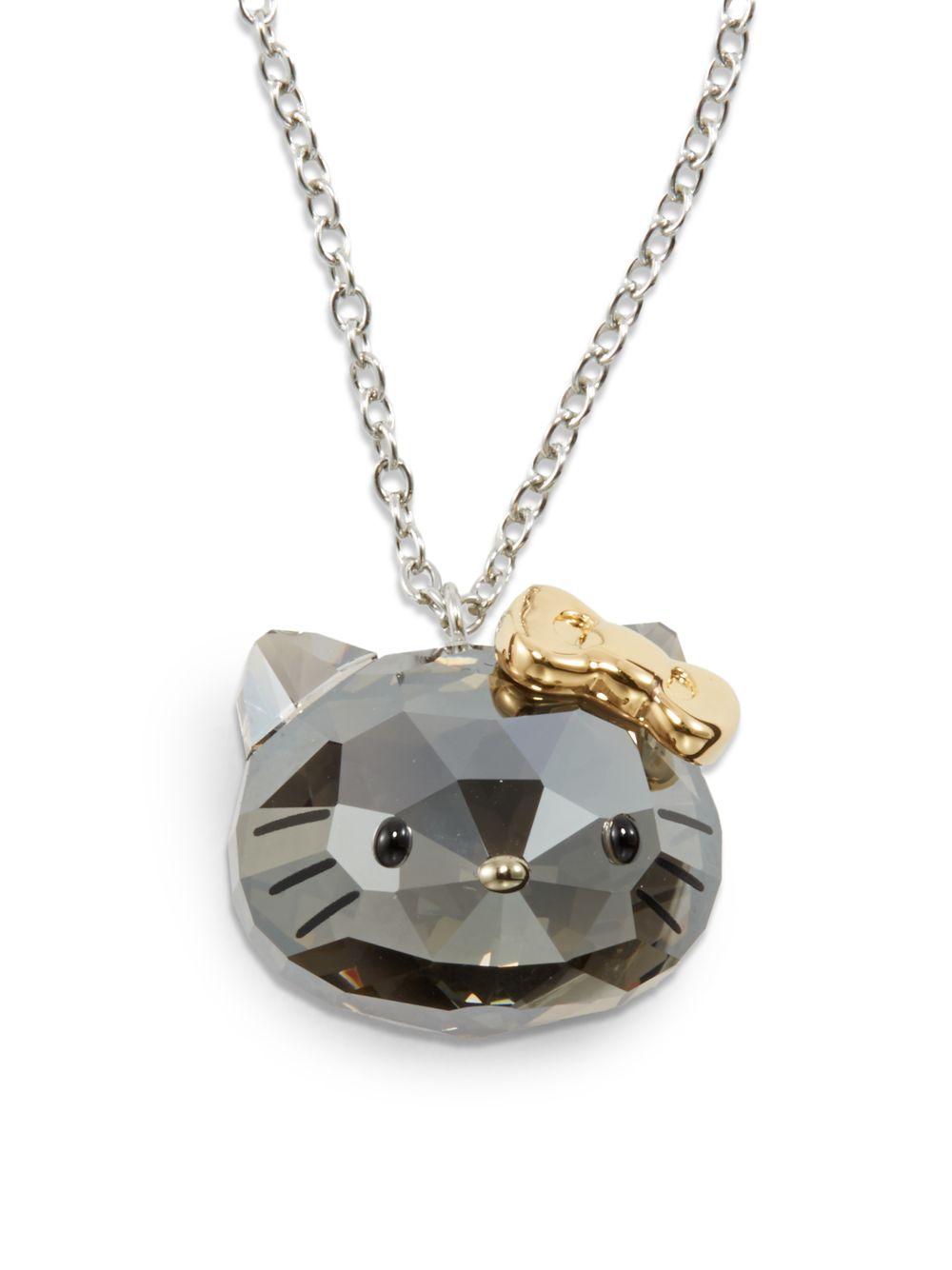 c6f8f04fe Swarovski Hello Kitty Crystal Pendant Necklace in Metallic - Lyst