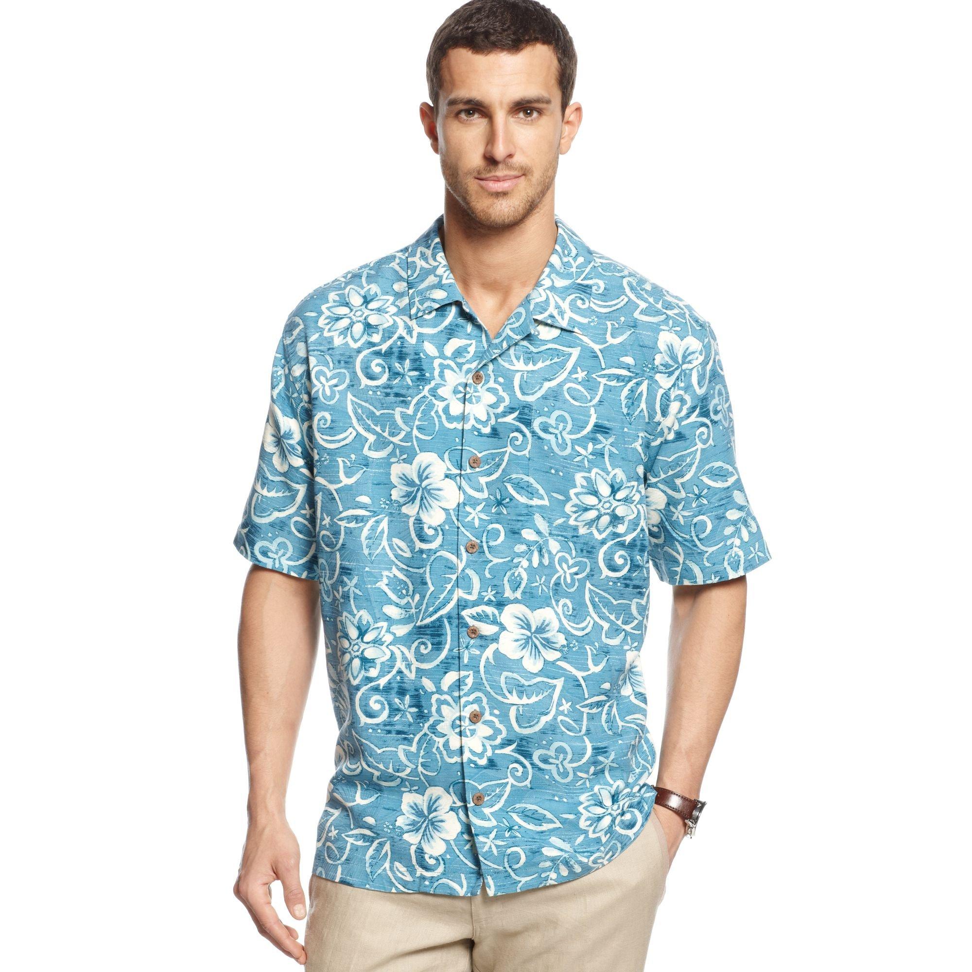 Lyst Tommy Bahama Short Sleeve Swirlpool Shirt In Blue