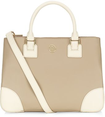 Tory Burch Robinson Colourblock Double Zip Tote - Lyst